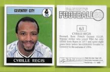 Coventry City Cyrille Regis England 63